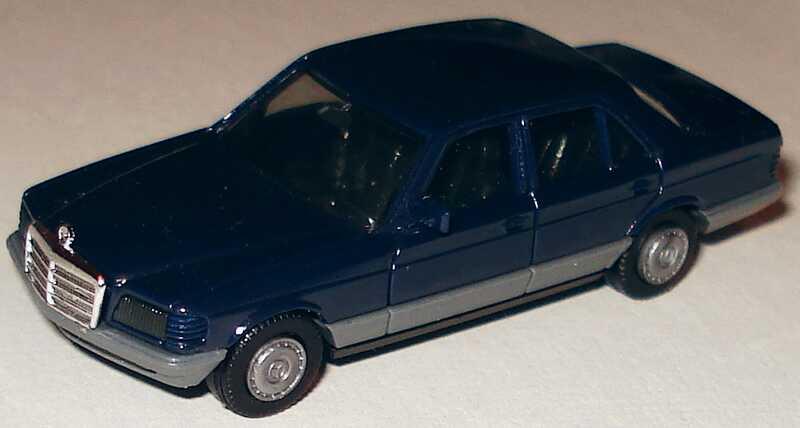 Foto 1:87 Mercedes-Benz 500SE (W126) dunkelblau herpa 2022