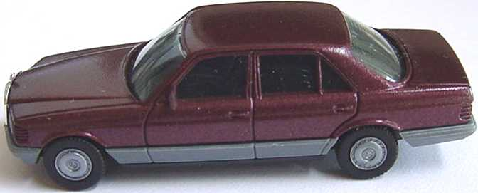 Foto 1:87 Mercedes-Benz 500SE (W126) weinrot-met. herpa 3022