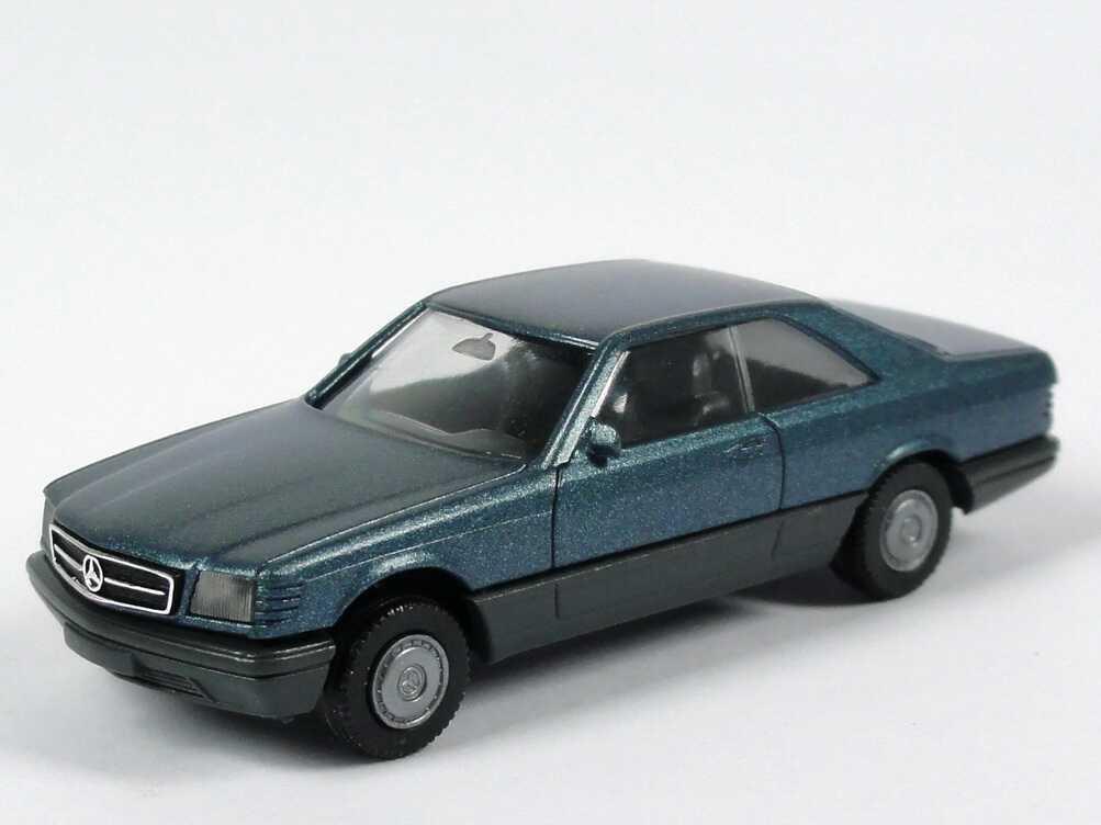 Foto 1:87 Mercedes-Benz 560SEC (C126) petrolblau-met. (1. Version) herpa 3054