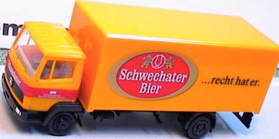 Foto 1:87 Mercedes-Benz 814 2a Ko-Lkw Schwechater Bier herpa