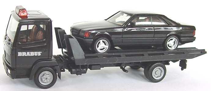 Foto 1:87 Mercedes-Benz 814 Abschleppwagen Brabus mit Mercedes-Benz 560SEC Brabus herpa 144834