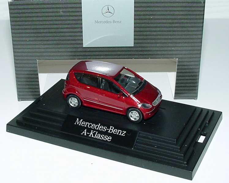 Foto 1:87 Mercedes-Benz A-Klasse 5türig W169 saturnrot-met. - Werbemodell - Wiking B66961357