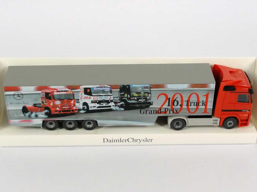 Foto 1:87 Mercedes-Benz Actros LH Fv Cv KoSzg Cv 2/3 16. Truck Grand-Prix 2001 Werbemodell Wiking B66000456