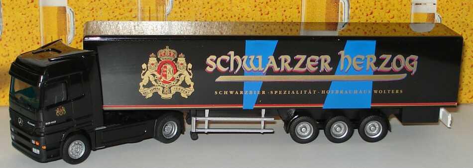 Foto 1:87 Mercedes-Benz Actros LH Fv Cv KoSzg 2/3 Schwarzer Herzog, Hofbrauhaus Wolters Albedo 250077