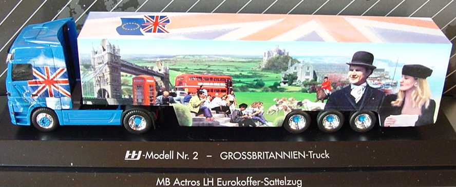 Foto 1:87 Mercedes-Benz Actros LH Fv Cv KoSzg Cv 2/3 Grossbritannien-Truck (HHI-Modell Nr. 2) herpa