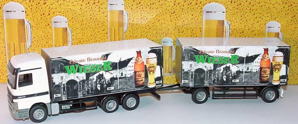 Foto 1:87 Mercedes-Benz Actros LH GetränkeKoHgz 3/2 Private Brauerei Wieser Albedo 250173