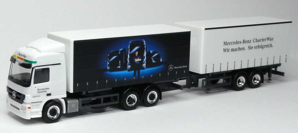 Foto 1:87 Mercedes-Benz Actros L MP3 W-GP-Tan-Hgz 3/2 Mercedes-Benz CharterWay - Wir machen. Sie erfolgreich. Werbemodell herpa B66007812