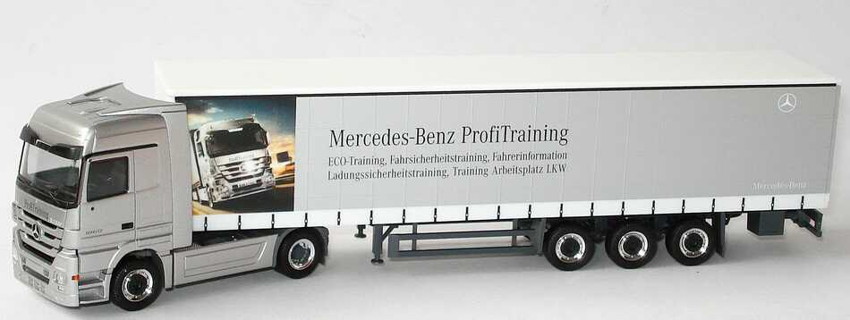Foto 1:87 Mercedes-Benz Actros Megaspace MP3 GPSzg 2/3 Mercedes-Benz ProfiTraining Werbemodell herpa B66007806