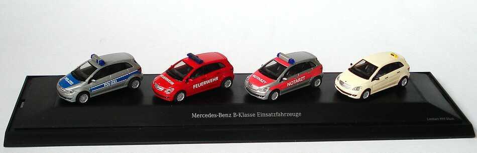 Foto 1:87 Mercedes-Benz B-Klasse Einsatzfahrzeuge (B-Klasse (W245) Polizei, Feuerwehr, Notarzt, Taxi) Werbemodell herpa B66961390