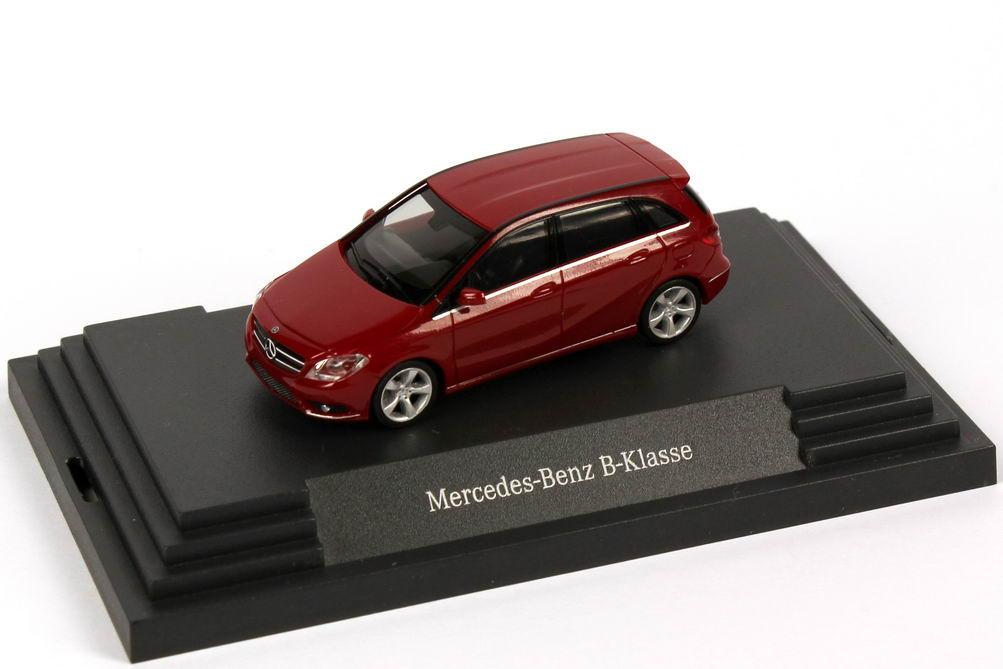 Foto 1:87 Mercedes-Benz B-Klasse W246 jupiter-rot - Werbemodell - herpa B66961403