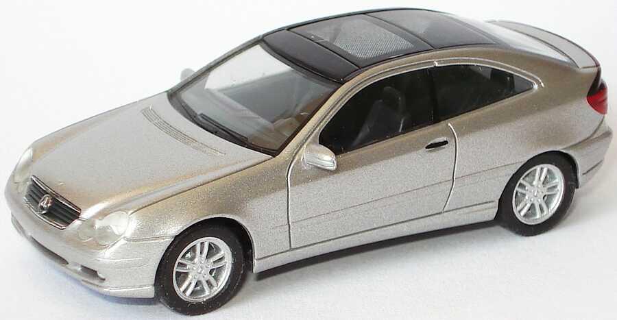 Foto 1:87 Mercedes-Benz C-Klasse Sport Coupé CL203 silber-met. - herpa 033008