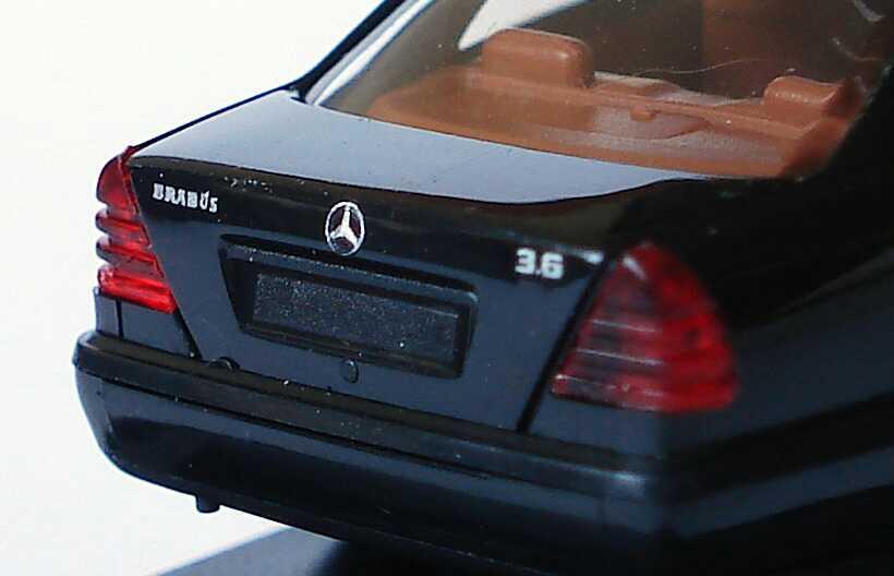 Mercedes Herpa C Classe Brabus nero pubblicitario Modello W202 Benz In Kul13cTJF5