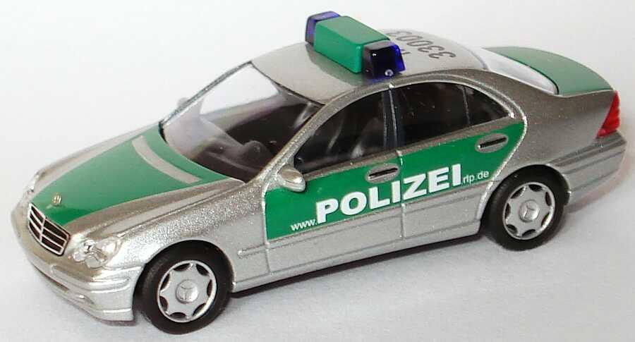 Foto 1:87 Mercedes-Benz C-Klasse (W203) Polizei Rheinland-Pfalz www.polizei.rlp.de, MZ 33003 Busch 49108