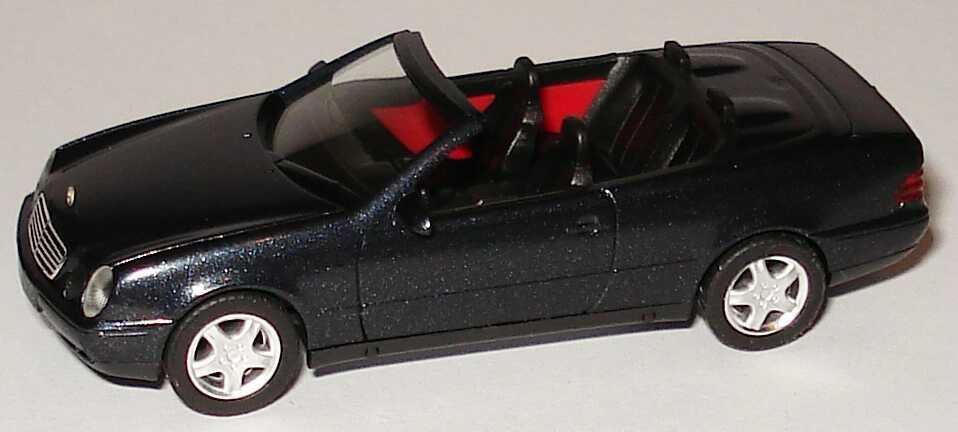 Foto 1:87 Mercedes-Benz CLK Cabrio (A208) blauschwarz-met. herpa