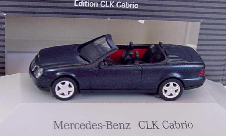 mercedes benz clk cabrio a208 mit softtop blauschwarz. Black Bedroom Furniture Sets. Home Design Ideas