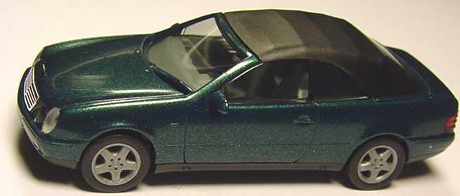 Foto 1:87 Mercedes-Benz CLK Cabrio (A208) mit Softtop dunkelgrün-met. herpa