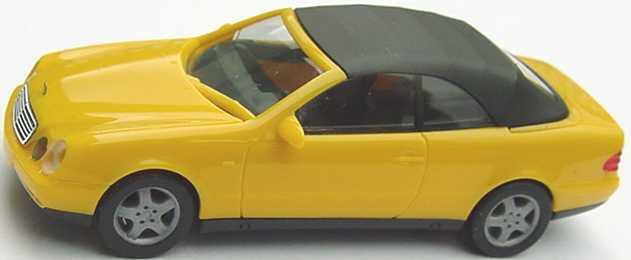 Foto 1:87 Mercedes-Benz CLK Cabrio (A208) mit Softtop gelb herpa 022583