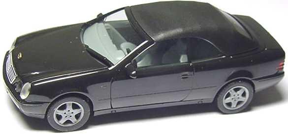 Foto 1:87 Mercedes-Benz CLK Cabrio (A208) mit Softtop schwarz herpa 022583
