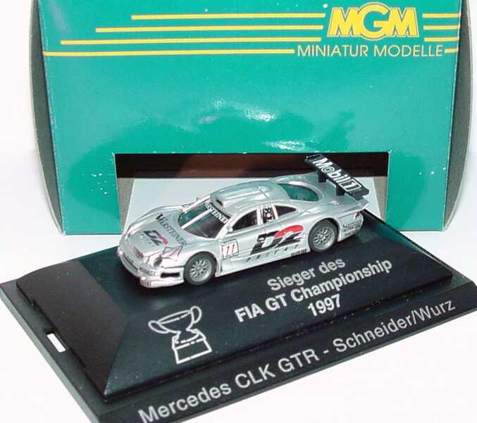 Foto 1:87 Mercedes-Benz CLK GTR ´97 D2 Privat Nr.11, Schneider/Wurz Sieger des FIA GT Championship 1997 MGM