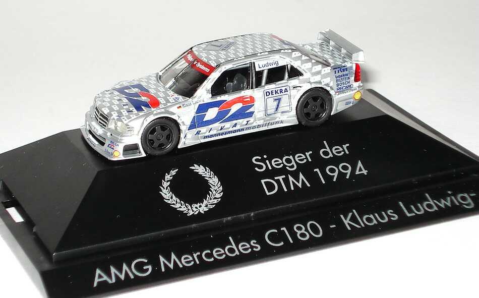 Foto 1:87 Mercedes-Benz C 180 DTM 1994 AMG, D2 Privat Nr.7, Klaus Ludwig Sieger der DTM1994 herpa