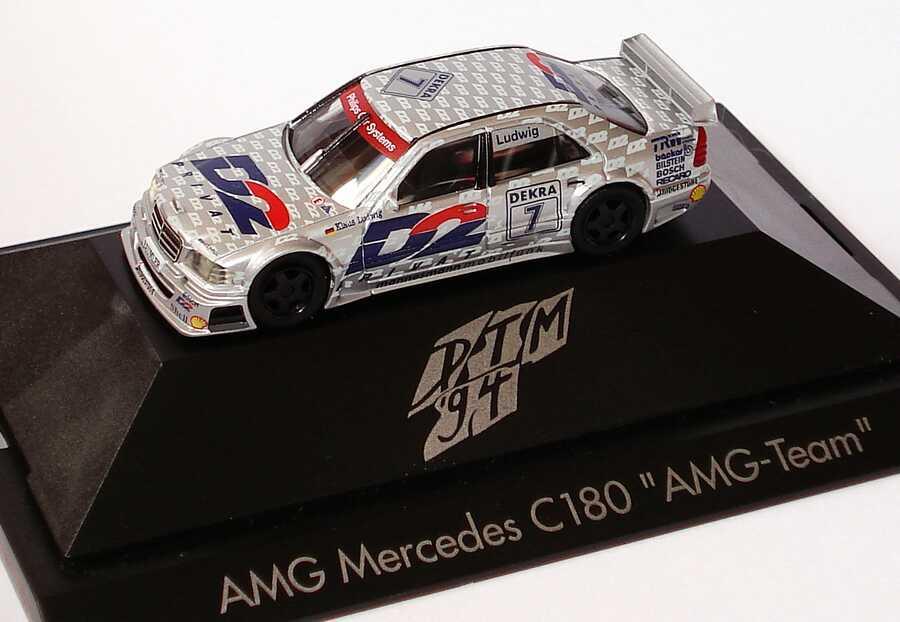 Foto 1:87 Mercedes-Benz C 180 DTM 1994 AMG, D2 Privat Nr.7, Klaus Ludwig herpa 036177