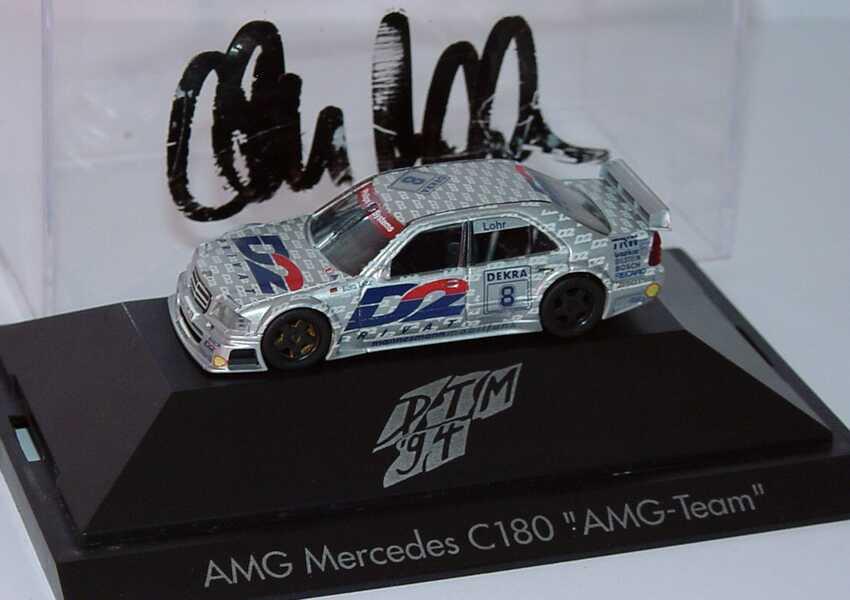 Foto 1:87 Mercedes-Benz C 180 DTM 1994 AMG, D2 Privat Nr.8, Ellen Lohr mit Fahrerautogramm herpa 036160
