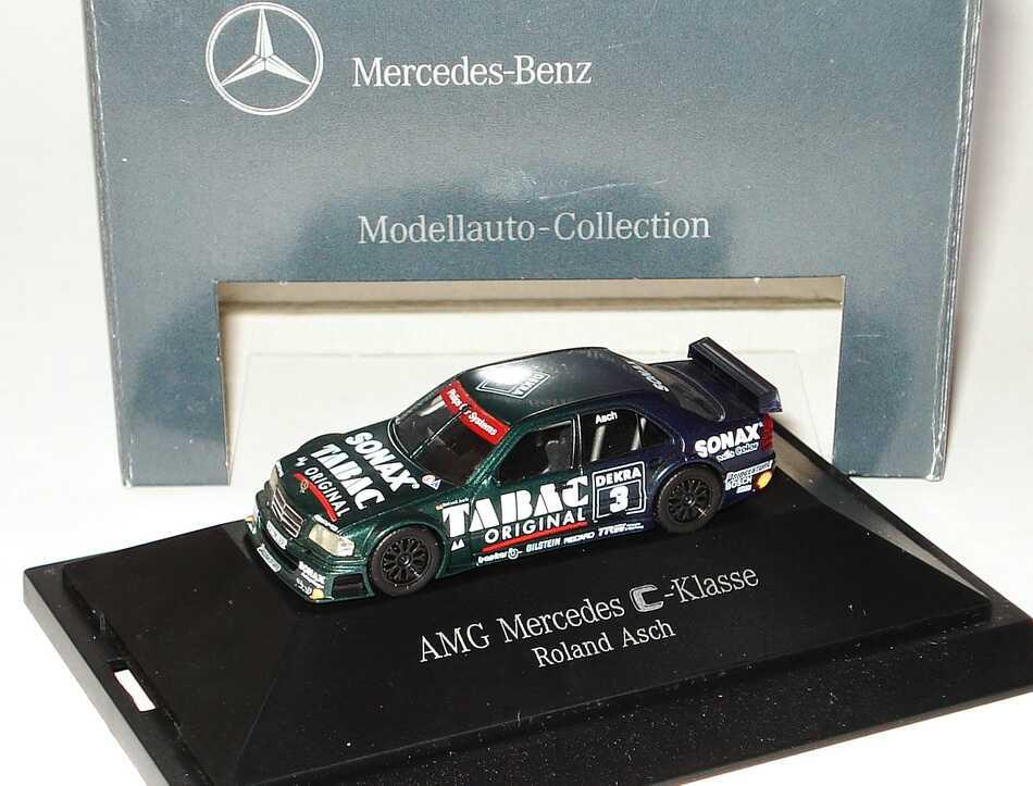 Foto 1:87 Mercedes-Benz C 180 DTM 1994 AMG, Tabac/Sonax Nr. 3, Roland Asch Werbemodell herpa B66005309