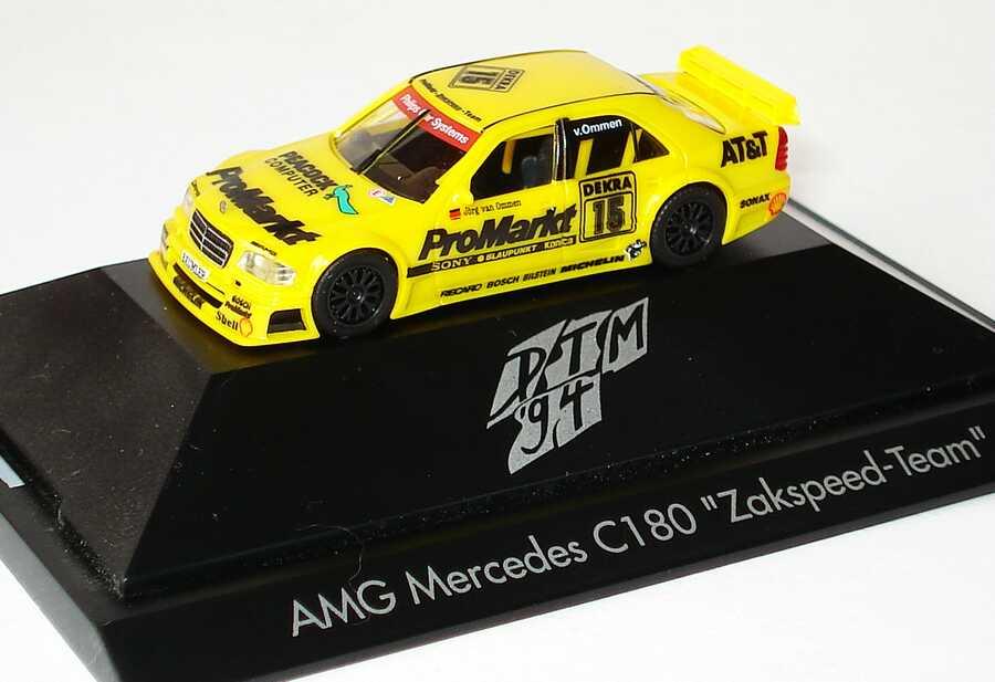 Foto 1:87 Mercedes-Benz C-Klasse W202 DTM 1994 Zakspeed ProMarkt Nr.15 Jörg van Ommen - herpa 036146