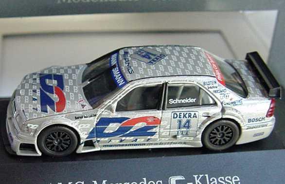 Foto 1:87 Mercedes-Benz C 180 DTM 1995 AMG, D2 Privat Nr.14, Schneider Werbemodell herpa B66005314