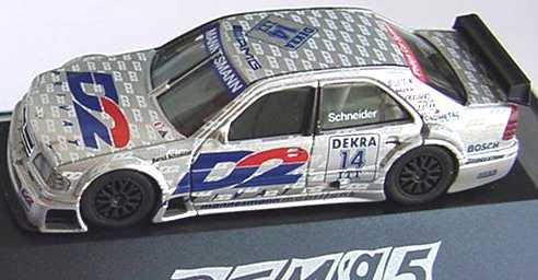 Foto 1:87 Mercedes-Benz C 180 DTM 1995 AMG, D2 Privat Nr.14, Schneider herpa 036504