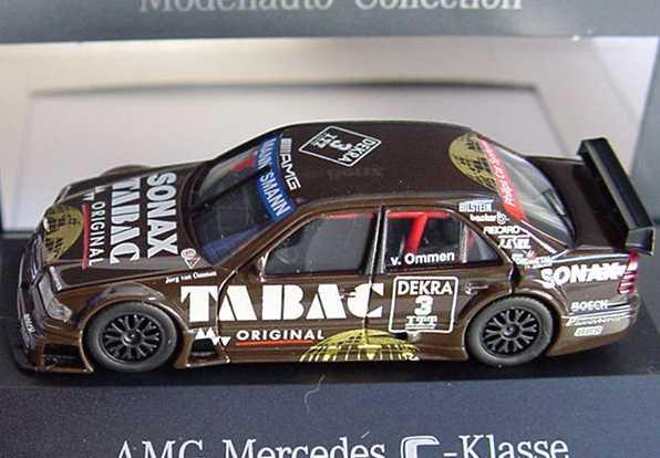 Foto 1:87 Mercedes-Benz C-Klasse W202 DTM 1995 AMG Tabac Sonax Nr. 3 Jörg van Ommen - Werbemodell herpa B6 600 5311