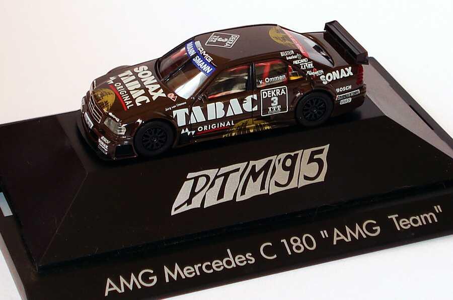 Foto 1:87 Mercedes-Benz C 180 DTM 1995 AMG, Tabac/Sonax Nr. 3, v. Ommen herpa 036429