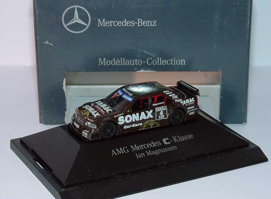Foto 1:87 Mercedes-Benz C 180 DTM 1995 AMG, Tabac/Sonax Nr.4, Magnussen Werbemodell herpa B66005322