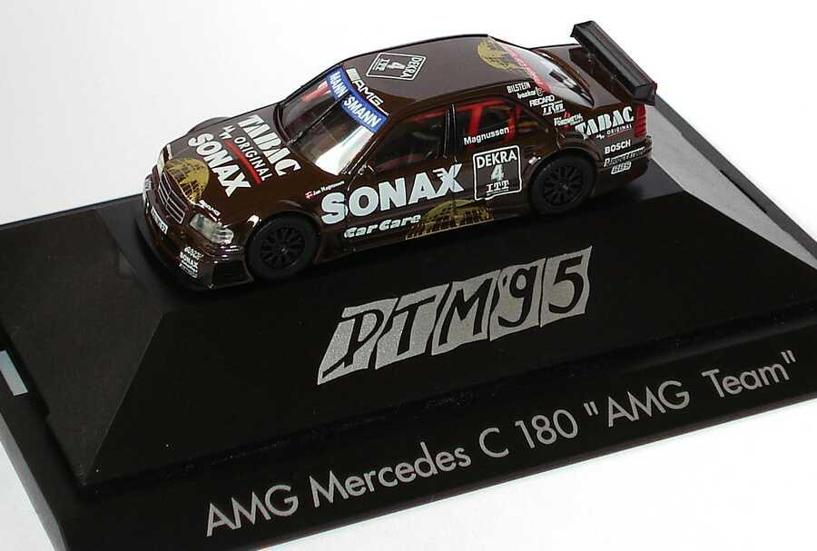 Foto 1:87 Mercedes-Benz C 180 DTM 1995 AMG, Tabac/Sonax Nr.4, Magnussen herpa 036436