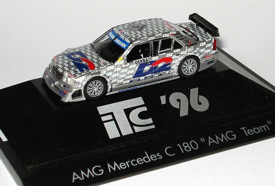 Foto 1:87 Mercedes-Benz C 180 (W202) ITC 1996 AMG, D2 Privat Nr.1, Bernd Schneider Werbemodell herpa B66005326