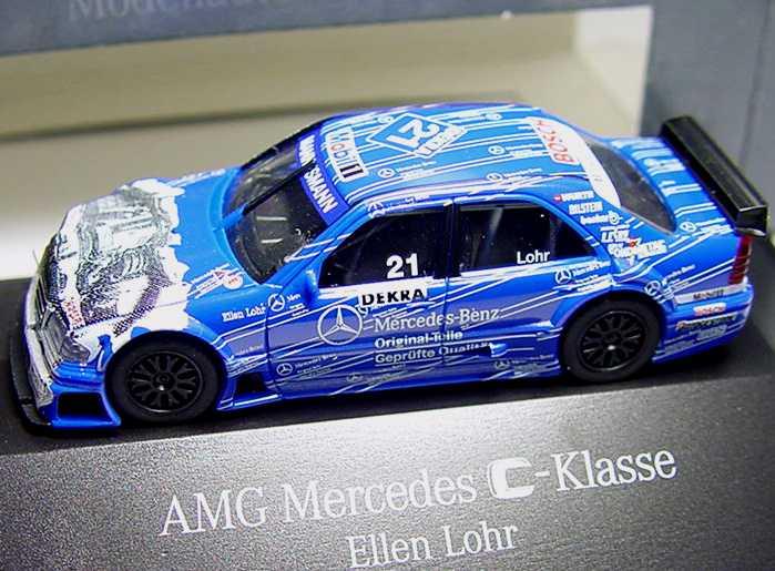 Foto 1:87 Mercedes-Benz C 180 (W202) ITC 1996 AMG, Original Teile Nr.21, Ellen Lohr Werbemodell herpa B66005332