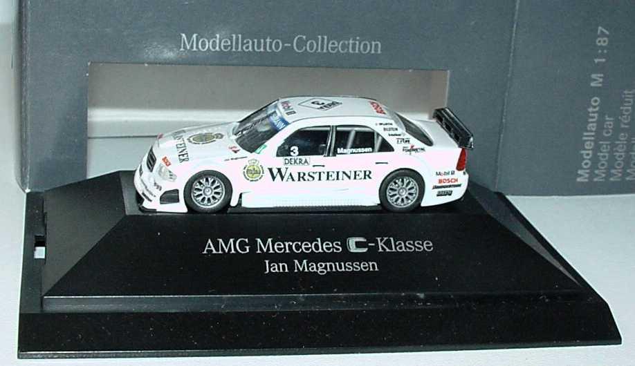 Foto 1:87 Mercedes-Benz C 180 (W202) ITC 1996 AMG, Warsteiner Nr.3, Jan Magnussen Werbemodell herpa B66005330