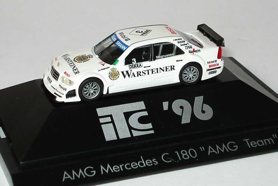 Foto 1:87 Mercedes-Benz C 180 (W202) ITC 1996 AMG, Warsteiner Nr.3, Jan Magnussen herpa 036917
