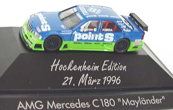 Foto 1:87 Mercedes-Benz C 180 ITC 1996 Persson, Point S Nr.22, Mayländer (Hockenheim Edition) herpa 036726