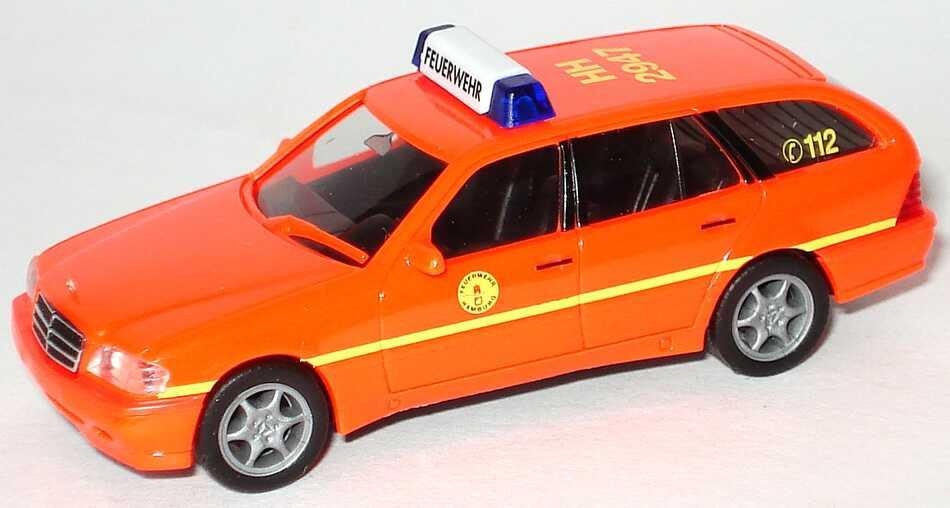 Foto 1:87 Mercedes-Benz C 180 Touring Facelift (S202) ELW Feuerwehr Hamburg HH 2947 herpa 044509
