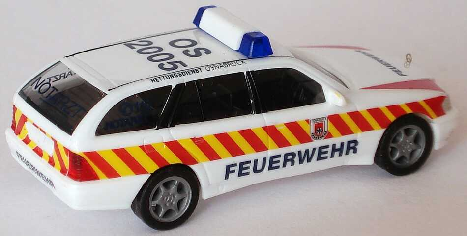 Foto 1:87 Mercedes-Benz C 180 Touring Facelift (S202) NEF Feuerwehr Osnabrück Rettungsdienst, OS 2005 herpa 236966