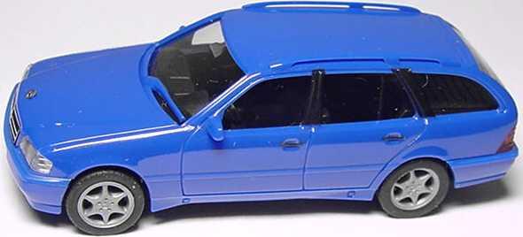 Foto 1:87 Mercedes-Benz C 180 Touring Facelift (S202) azurblau herpa 022392
