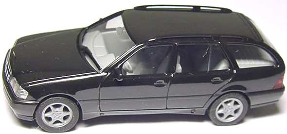 Foto 1:87 Mercedes-Benz C 180 Touring Facelift (S202) schwarz herpa 022392