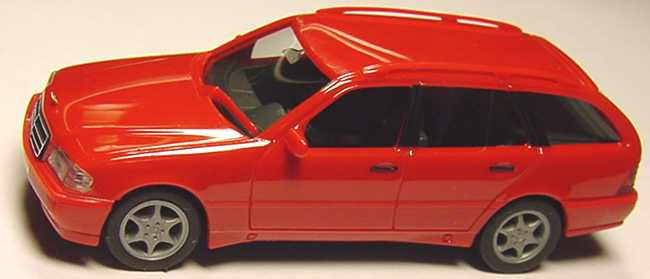 Foto 1:87 Mercedes-Benz C 180 Touring Facelift (S202) signalrot herpa 022392