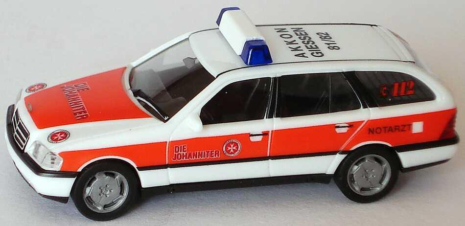 Foto 1:87 Mercedes-Benz C 180 Touring (S202) Notarzt Die Johanniter  AKKON GIESSEN 81/82 herpa 043731