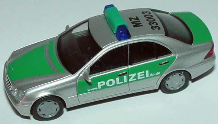Foto 1:87 Mercedes-Benz C 200 (W203) Polizei www.polizei.rlp.de, MZ 33003 herpa 045582