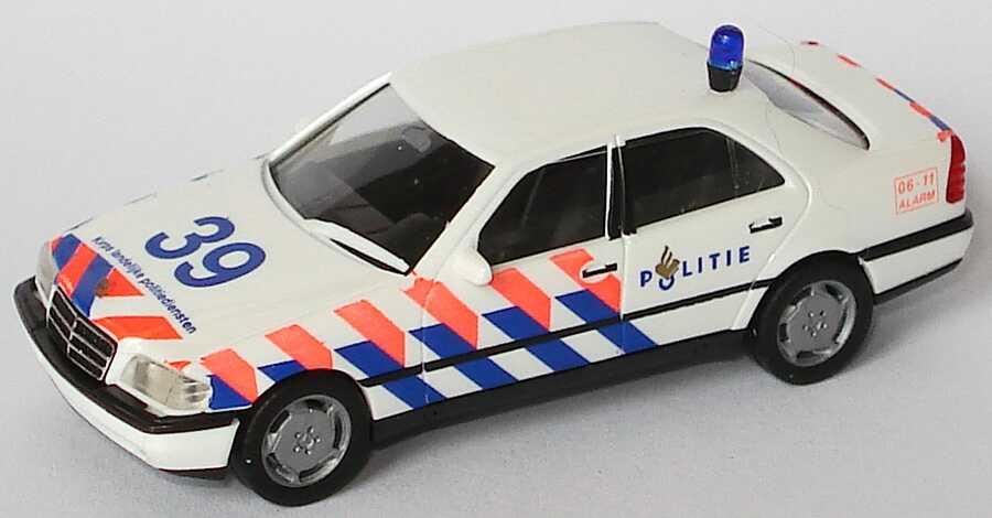 Foto 1:87 Mercedes-Benz C 220 (W202) Politie 39 (Polizei NL) herpa