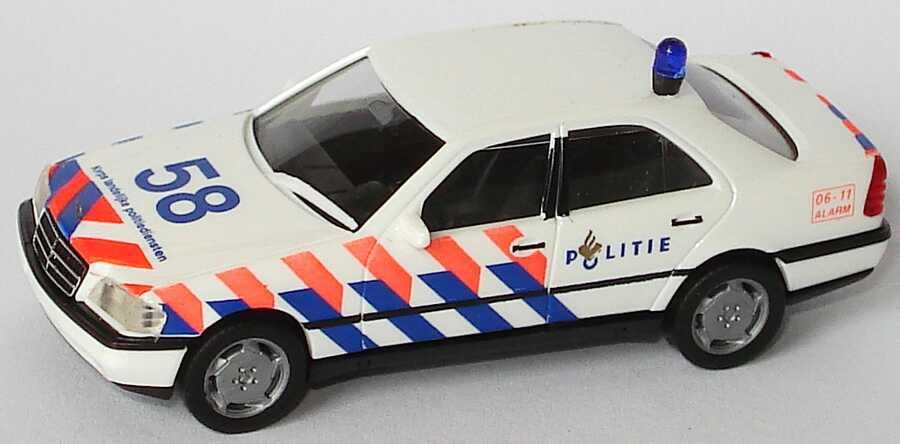 Foto 1:87 Mercedes-Benz C 220 (W202) Politie 58 (Polizei NL) herpa