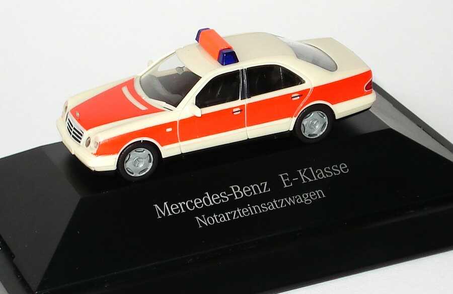 Foto 1:87 Mercedes-Benz E 320 (W210) Notarzt Werbemodell herpa B66005634
