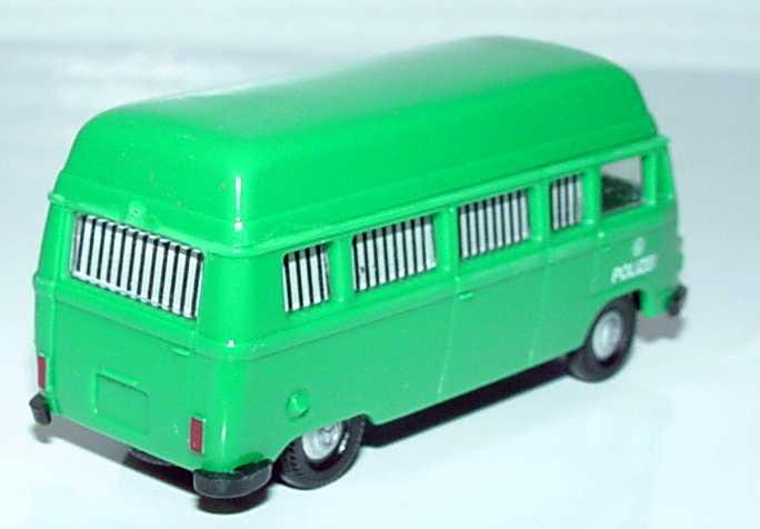 Foto 1:87 Mercedes-Benz L207 Bus Hochdach mit vergitterten Fenstern Polizei (grüne Minna) APS Collection 09032